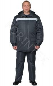 "Фото Костюм мужской мод. ""Графит""(куртка, полукомбинезон)"