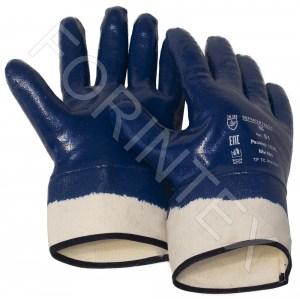 Фото Перчатки нитриловые с покрытием МБС, манжет крага